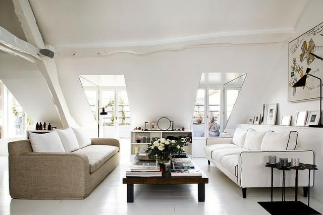 Wohnungen Einrichten Beispiele Exquisit On Andere überall Wohnung Wohnideen Für Zimmer Mit Dachschräge 2