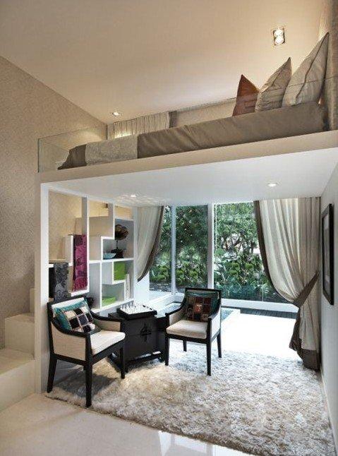Wohnungen Einrichten Beispiele Interessant On Andere In Bezug Auf Die Kleine Wohnung Mit Hochhbett FresHouse 1