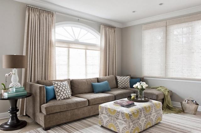Wohnzimmer Beige Blau Herrlich On überall Braun Wohndesign 9