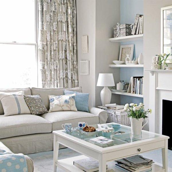Wohnzimmer Beige Blau Imposing On In Helles Interieur Pastellfarben 1
