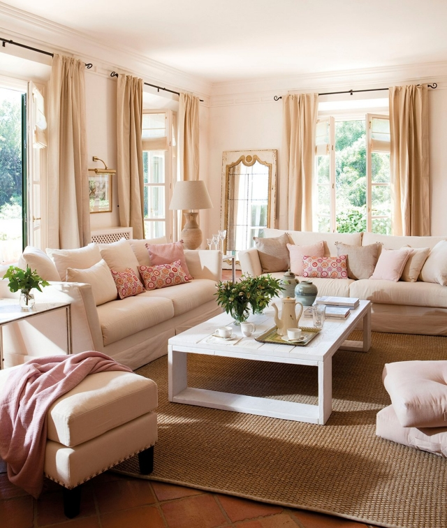 Wohnzimmer Beige Streichen Beeindruckend On In Wunderbar Auf Stunning Rosa 1