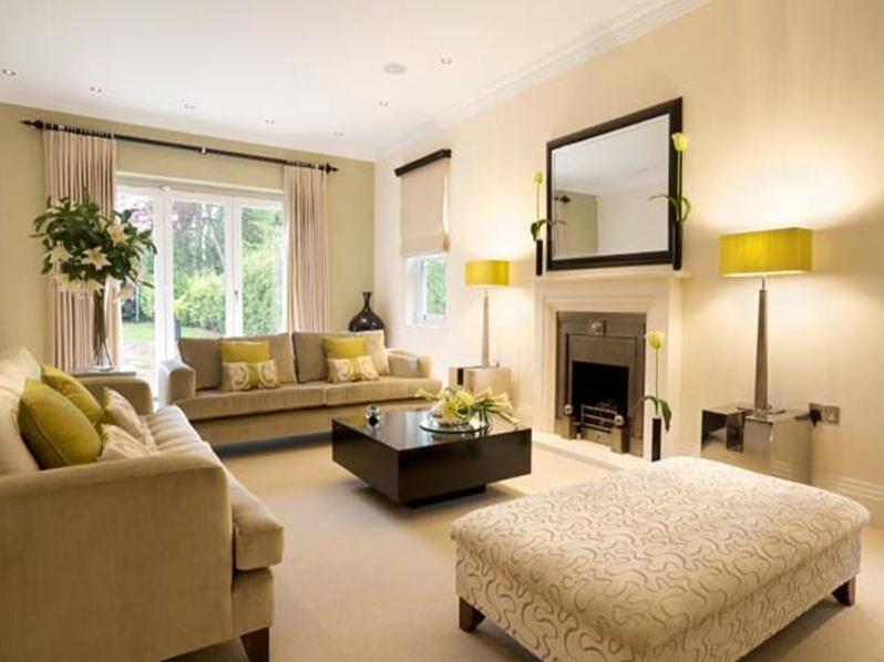 Wohnzimmer Beige Streichen Schön On In Ideen Wandfarbe Teppich Raffrollo 6