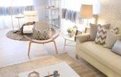 Wohnzimmer Beige Weiß Design