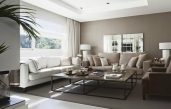 Wohnzimmer Beige Weiß