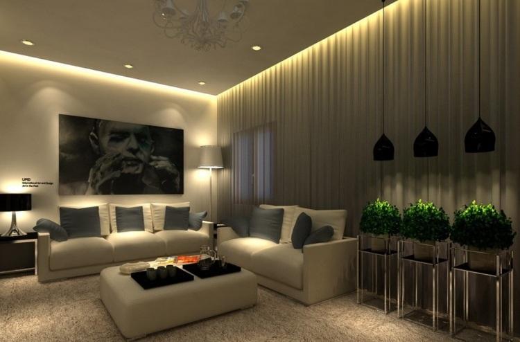 Wohnzimmer Beleuchtung Modern Interessant On In Bezug Auf Clairage Led Salon 30 Id Es Ultra Modernes Essayer Living 7