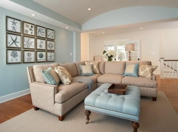 Wohnzimmer Blau Beige Exquisit On Und Amocasio Com 100 5
