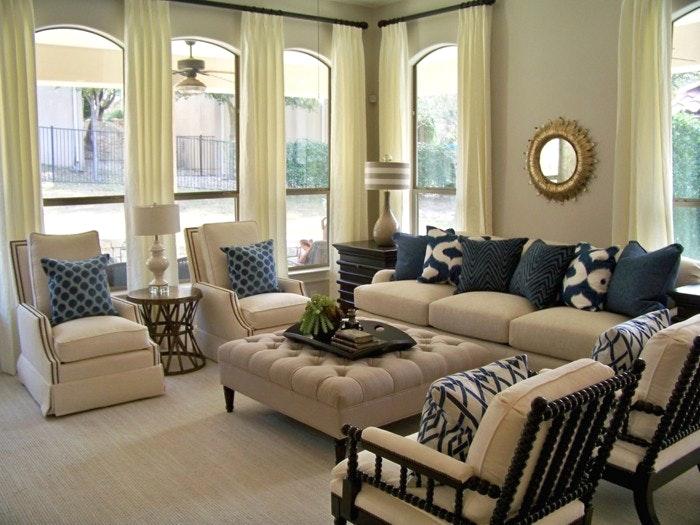 Wohnzimmer Blau Beige Interessant On Mit Home Dekor Beeiconic Com 4