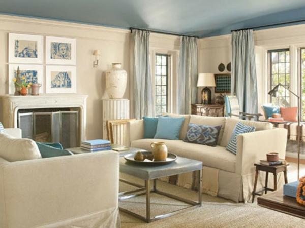 Wohnzimmer Blau Beige Unglaublich On Mit Emejing Gallery House Design Ideas 1