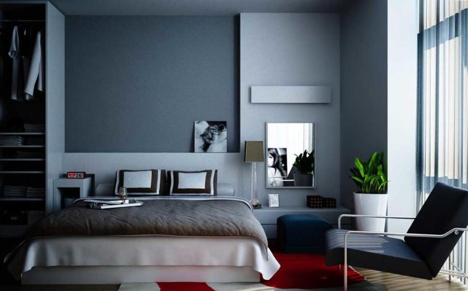 Wohnzimmer Blau Grau Rot Modern On überall Schlafzimmer Winner Mit Teppich 1