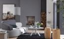 Wohnzimmer Blau Grau Rot Stilvoll On Für Faszinierend Streichen 4