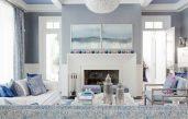 Wohnzimmer Blau Weiß Grau