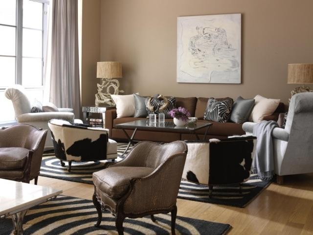 Wohnzimmer Braun Grau Exquisit On Beabsichtigt Einrichtung Creme Rustikale Accessories 6