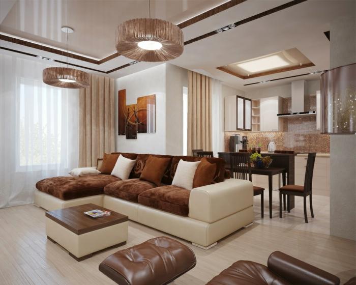 Wohnzimmer Braun Weiß Zeitgenössisch On Und Beige 100 Images Modern 1
