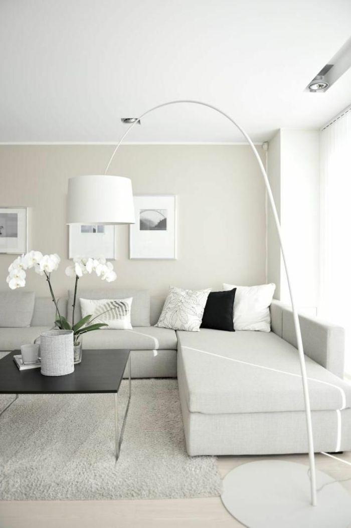 Wohnzimmer Deko Weiß Grau