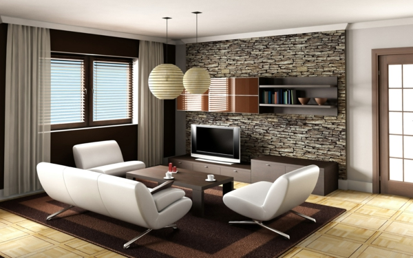 Wohnzimmer Design Wandfarbe