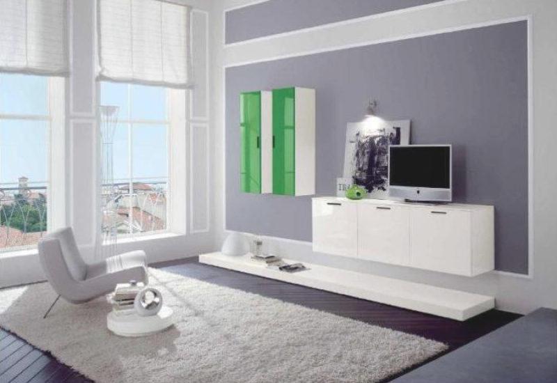 Wohnzimmer Design Wandfarbe Wunderbar On Mit Trimmer Modern 7 1
