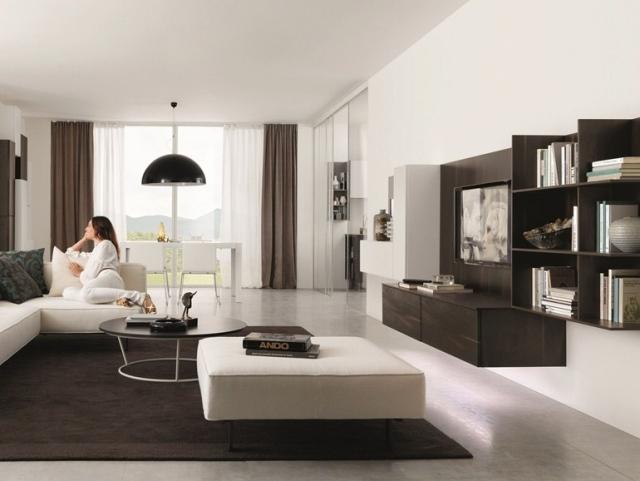 Wohnzimmer Einrichten Braun Weiss Beeindruckend On Auf Einrichtung Weiß Interessant In Dekoideen 7