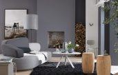 Wohnzimmer Farbe Grau