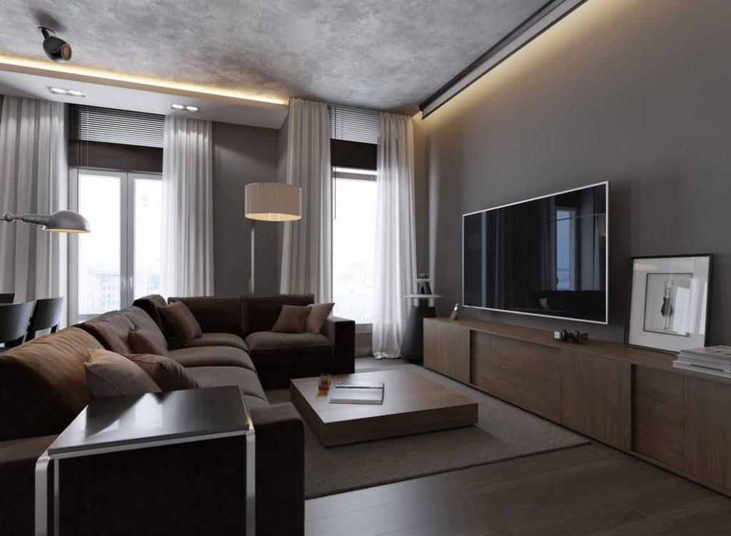 Wohnzimmer Grau Braun Kreativ On Mit Fabelhafte Graue Design Um Sie Zu Inspirieren 7