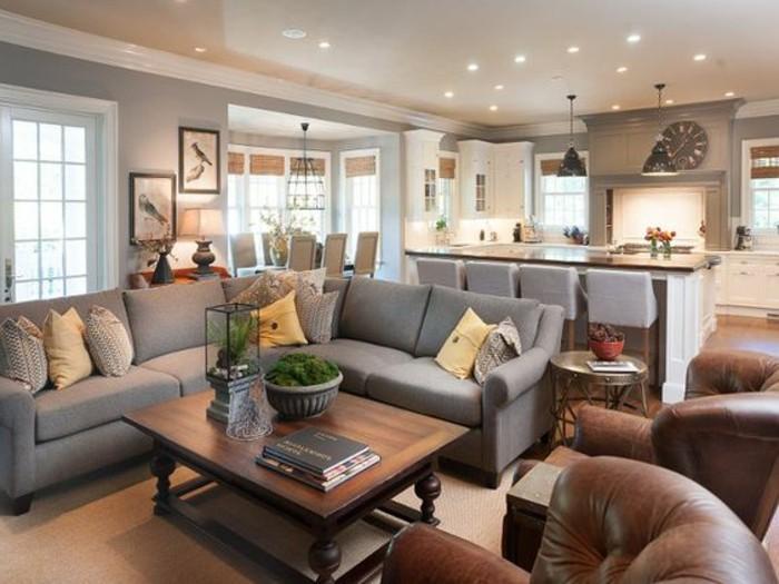 Wohnzimmer Grau Braun Modern On überall Spektakulär Auf Mit Einrichten 1