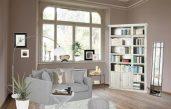 Wohnzimmer Grau Braun Weiß