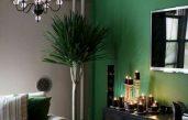 Wohnzimmer Grün Grau Braun