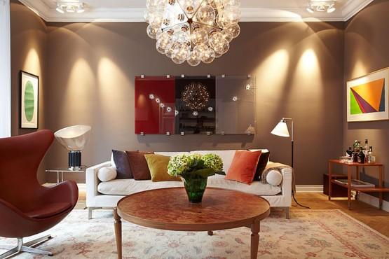 Wohnzimmer Ideen Braun Großartig On Beabsichtigt Wandfarbe Zimmer Streichen In FresHouse 2