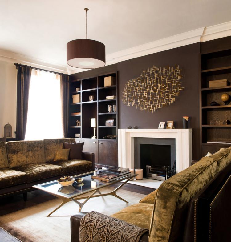 Wohnzimmer Ideen Braun Modern On überall Wandgestaltung 8