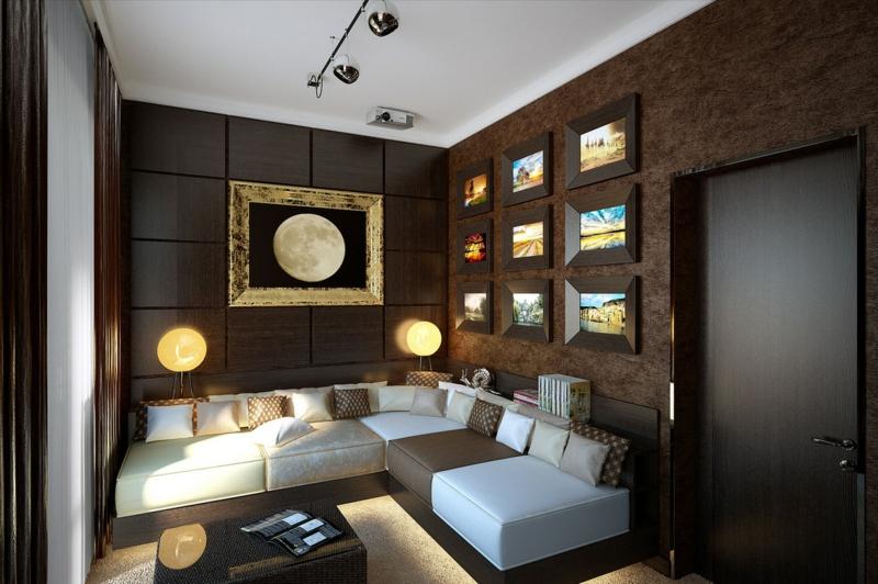 Wohnzimmer Ideen Braun Stilvoll On In Bezug Auf Wandfarbe 31 1