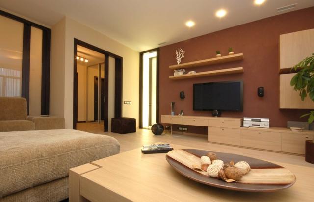 Wohnzimmer Ideen Braun Töne Einfach On Auf Wandfarbe 31 8