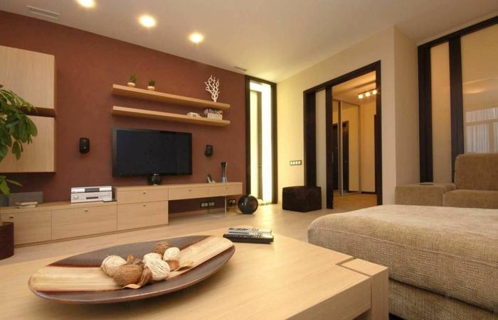 Wohnzimmer Ideen Braun Töne Frisch On Beabsichtigt 60 Möglichkeiten Wie Sie Ein Braunes 1