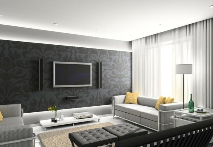 Wohnzimmer Ideen Grau Zeitgenössisch On überall Grun Moderne Deko Grn 3