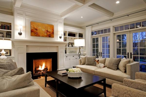 Wohnzimmer Ideen Mit Kamin