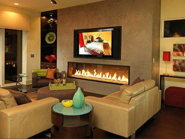 Wohnzimmer Ideen Mit Kamin Frisch On Auf Modern Erstaunliche Hause Design 6