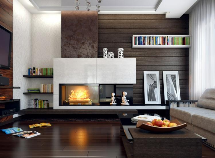 Wohnzimmer Ideen Mit Kamin Modern On Für Kreativ Gestalten 43 Wärme 3