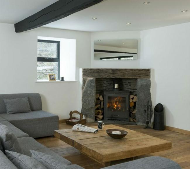 Wohnzimmer Ideen Mit Kamin Wunderbar On überall Gestalten 43 Für Wärme Gemütlichkeit 5
