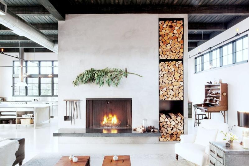 Wohnzimmer Ideen Mit Kamin Zeitgenössisch On überall Gestalten 43 Für Wärme Gemütlichkeit 7