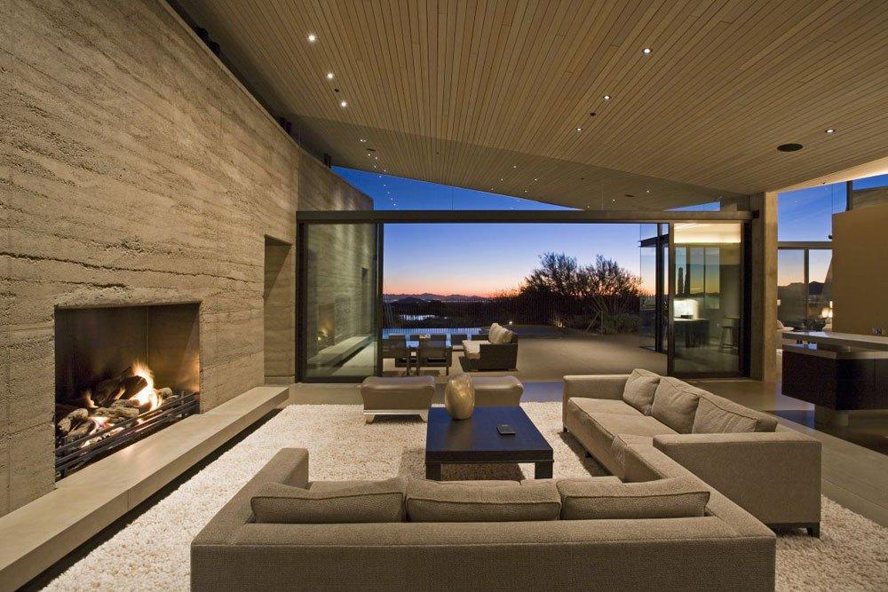 Wohnzimmer Ideen Modern Kreativ On In Bezug Auf Wunderbare Moderne Kamin Verführerische Dekoration 4