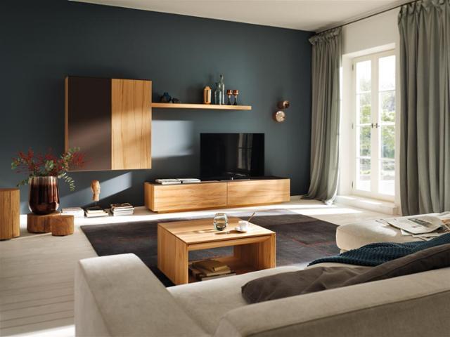 Wohnzimmer Ideen Petrol Modern On Für Petrolfarbene Wandfarbe Bilder COUCHstyle 6