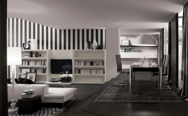 Wohnzimmer Ideen Schwarz Weiss Grau Imposing On In Bezug Auf Einrichten Weiß Und 7