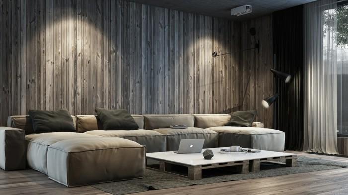 Wohnzimmer Ideen Wand Glänzend On In Wanddeko Wandpeneele Holztextur Farbe 6