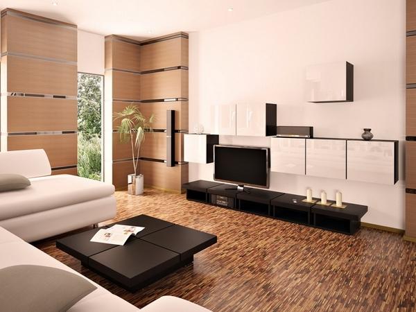 Wohnzimmer In Braun Und Weiss Bescheiden On Für Dekor Natürliche Farbgestaltung 1