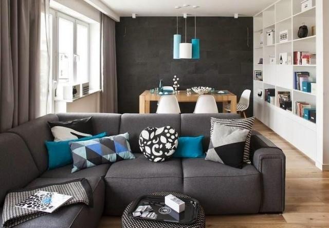 Wohnzimmer In Braun Weiß Grau Einrichten Einfach On Design ...
