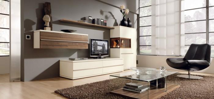 Wohnzimmer In Braun Weiß Grau Einrichten Einzigartig On Bezug Auf Einsicht 5