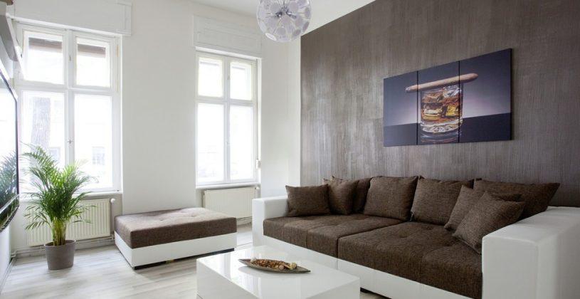 Wohnzimmer In Braun Weiß Grau Einrichten Glänzend On Beabsichtigt Modern Design 7