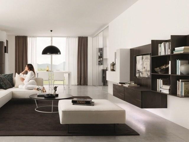 Wohnzimmer In Braun Weiß Grau Einrichten Glänzend On Bezug Auf Nett Für Und Beige 55 9