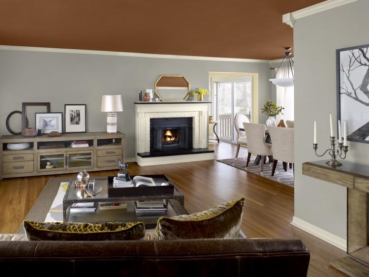 Wohnzimmer In Braun Weiß Grau Einrichten Modern On Für Optimal Zusammen 8