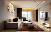 Wohnzimmer In Weiss Braun