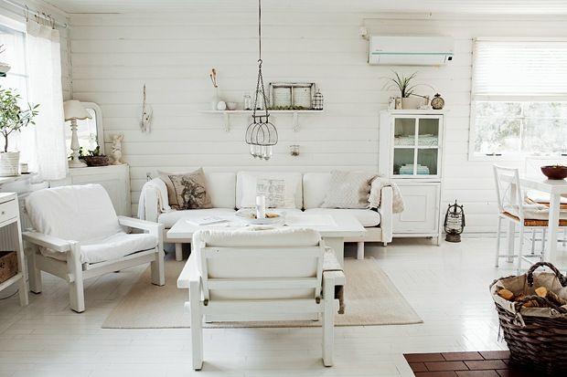 Wohnzimmer Landhausstil Gestalten Weiß