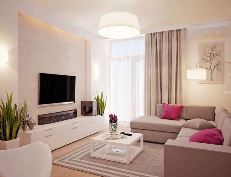 Wohnzimmer Mit Küche Braun Beige Modern On Wohndesign 8